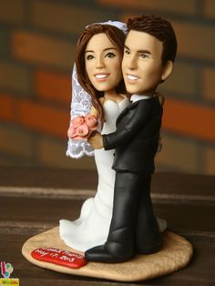 HEADtoTOE Personalized Wedding / Proposal Figurines  by IUBeGifts, $178.00