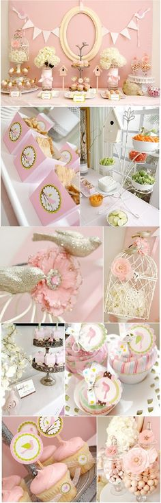 Pink Baby Shower Ideas .... Love, love, love  every thing, could easily change some of the flowers, cupcake icing
