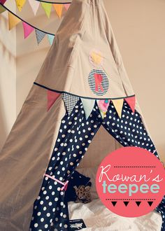 teepee by jenloveskev, via Flickr Really want to sew a Tee Pee...maybe one day soon...