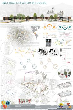 Galería de XXXI ELEA Norte presenta sus proyectos ganadores – 7 XXXI ELEA North presents its winning projects, Honorable Mention / A city at the height of the eyes. Image Courtesy of XXXI ELEA Blog Architecture, Site Analysis Architecture, Architecture Panel, Landscape Architecture Design, Architecture Diagrams, Classical Architecture, Ancient Architecture, Architecture Presentation Board, Presentation Layout