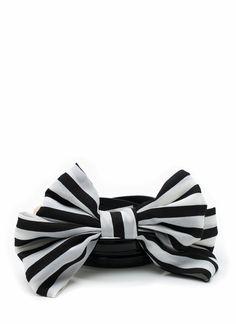 striped bow belt