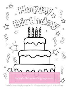 Print happy birthday from elsa colouring page coloring pages