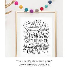 Free downloadable print by Dawn Nicole Designs