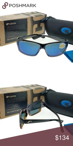 e607f2d4d0 Ut47-obmp Men s Black Frame Blue Lens Polarized New gorgeous authentic  Costa del mar UT47
