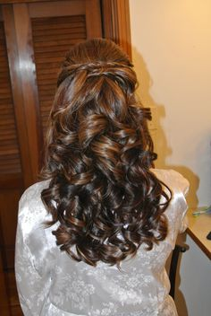 Formal hair, wedding hair, half-up, prom, bridesmaid Hair by Christy: Simply Captivating On-Site Beauty Services, PGH, PA