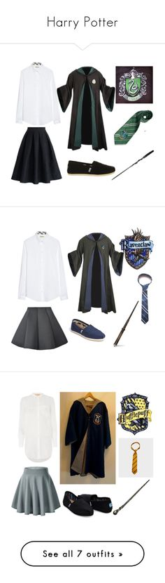 """""""Harry Potter"""" by aniemaxx on Polyvore featuring Chicwish, Burberry, TOMS, HUGO, Elope, River Island, Converse, Warner Bros., Minnetonka and CellPowerCases"""