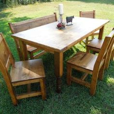 """""""The Katelyn"""" - 5' Farm Table; """"The Timberland Trail - 8' Farm Table; """"The Glenn Farm"""" - 6' Farm Table; """"The Retreat"""" - 9' Farm Table; """"The Branaham"""" - 7'  Farm Table; """"The Feast"""" - 10' Farm Table."""