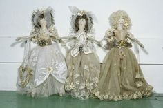 Handmade fairy dolls - antique lace Love, love, love these!
