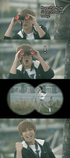 Super Junior.  This is what I thought when I watched this video at this part.  So funny!
