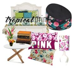 """""""Flower Printed Bedroom"""" by insurgent-amity ❤ liked on Polyvore featuring interior, interiors, interior design, home, home decor, interior decorating, Bunn, Designs by Lauren, bedroom and tropicalprints"""