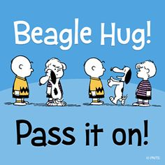 Beagle hug! :)  Pass it on! #Snoopy