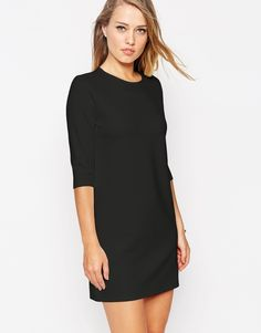 Image 1 of ASOS - Sheath in Ponte with a 3/4-sleeves