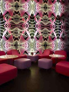 "Karim Rashid designs ""Switch"", a restaurant with undulating, color-changing walls."