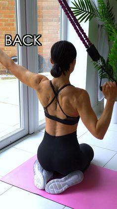 Home Workout | Back 💪🏼💗 #back #backworkouts #backexercises #homeworkout #athomeworkouts #homeexercises #athomeexercises #resistanceband Fitness Workouts, Gym Workout Videos, Gym Workout For Beginners, Fitness Workout For Women, Sport Fitness, At Home Workouts, Workout Plans, Back Fat Workout, Butt Workout