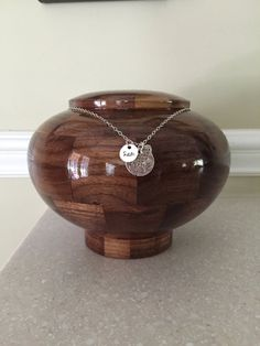 """Pet Urn - Custom Pet Memorial - Wooden Cremation Urn for Pet Ashes - Artistic Urn for Pets - Personalized Urn - """"Wisdom"""""""