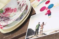 vintage postcard als trouwuitnodiging