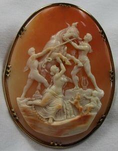Cameos: victorian, shell.