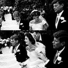 Bobby, Jacqueline, and Jack on September 12, 1953.