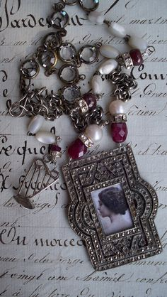 Sweet Song of Love  Vintage Assemblage Necklace by VintageTraveler