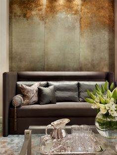 Contemporary Living Room designed by Katherine Pooley | Patina & Oxidation Ideas
