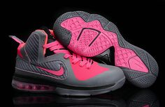 newest f36ab f9f53 Womens Basketball shoes Lebron 9 Carbon Grey Cherry Pink Ke Nike Wedges,  Adidas Shoes,