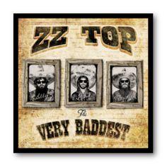 Cuadro con marco negro de aluminio para disco de vinilo / ZZ Top - The Very Baddest / #ZZTop