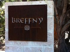 CUTOUT laser cut: Eagle Bay, New South Wales - 3mm thick Corten rusted steel  custom laser cut property house name plate sign