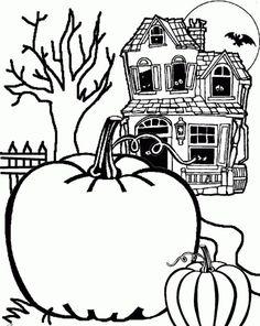 halloween bilder kürbisse spukhaus hintergrund
