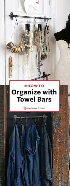 Towel racks are capable of a lot more than just holding linens—it's time to let these multi-tasking organizers out of the bathroom so they can help you declutter every room in the house. From storing shoes in the entryway to corralling pens in the office, the towel bar proves its tidying potential.