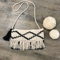 Brooke Crochet Bag in Black Leather Tooling, Leather Clutch, Boho Bags, Vintage Leather, Rattan, Purses And Bags, Wallets, Bamboo, Crochet