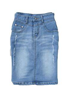 Women's Summer Dress Denim Skirt Size L Blue