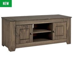 Buy HOME Amersham Large Solid Wood TV Unit - Dark Pine at Argos.co.uk - Your Online Shop for Entertainment units and cabinets, Living room furniture, Home and garden.