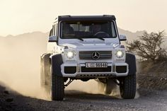 The Mercedes-Benz G 63 AMG is a massive off-roader that is heading for production. Mercedes Benz G63, Mercedes G Wagon, Mercedes G Class, Mercedes Jeep, G 63 Amg, Mercedez Benz, Benz G Class, Suv Cars, Transporter