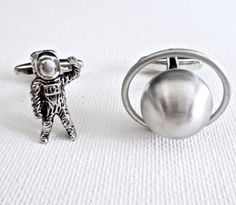 Astronaut Planet Cufflinks Cuff Links Saturn Astronomy Science Teacher Wedding…