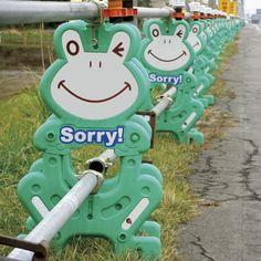 Frog flag work in Japan ^_^