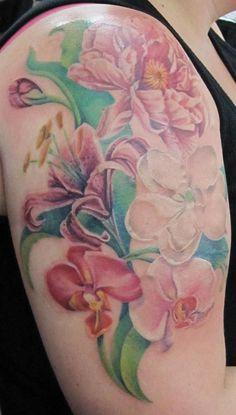 Floral half sleeve by Char Hall