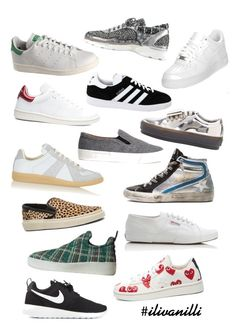 """Sneaker Love"" by ilivanilli ❤ liked on Polyvore featuring moda, Acne Studios, adidas, Maison Margiela, NIKE, Yves Saint Laurent, Isabel Marant, Chanel, Superga y adidas Originals"