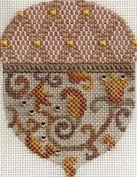 Melissa Shirley needlepoint acorns