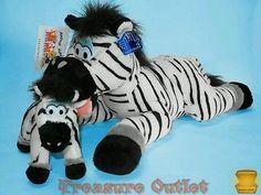 Applause Animal Junction Stuffed Plush Zebra Mom Marlene And Baby 16in