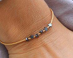 Oro llena pulsera pulsera de oro con cuentas por lizaslittlethings
