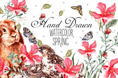 Hand Drawn watercolor SPRING by knopazyzy on @creativemarket