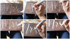 How to Make Rustic Mr. & Mrs. Wedding Chair Signs