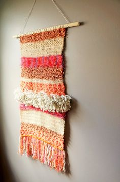 Modern Tapestry / Wall Hanging / Fringe Tapestry / by LemonCucullu