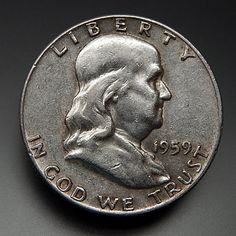 1959 Us Mint Collectible Franklin Half Dollar Coin