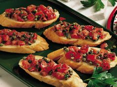 **Substitute Parmesan Cheese for Capers and serve over breaded chicken for an easy entree (20-25 min on stove top)!   This quick and easy Italian favorite is topped with a savory blend of tomatoes, garlic, basil and capers.