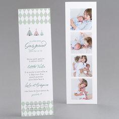 Faire-part de naissance personnalisés, faire-parttendance, plume, photomaton, fets fpc