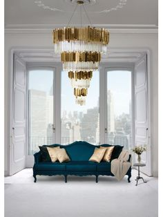 An extravagant piece that will transform your interior design project into the stunning project you always wanted to make: the EMPIRE CHANDELIER has a vigorous personality and creates an exclusive atmosphere. Know more about it at http://www.luxxu.net/