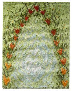 rya rug - ryijy - Kesän pesä ommellen 95 x Rya Rug, Wool Rug, Cotton Silk Fabric, Art Inspo, Bohemian Rug, Weaving, Textiles, Tapestry, Rugs