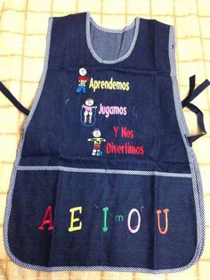 Delantales para niños (as) Glamour Nails, Jean Crafts, Blue Jeans, Apron, Kids Outfits, Teaching, Sewing, Fabric, Shirts