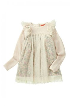 fashion European style children.. could easily sew this, with a coloured top and a little fabric with ribbons